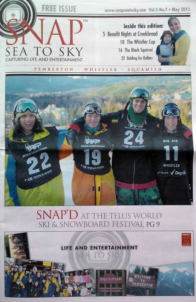 Whistler Newspaper Cover Photo