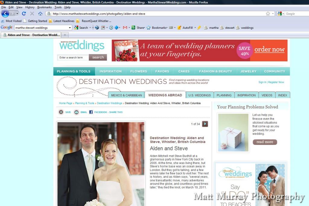 Whistler Destination Wedding Ceremony