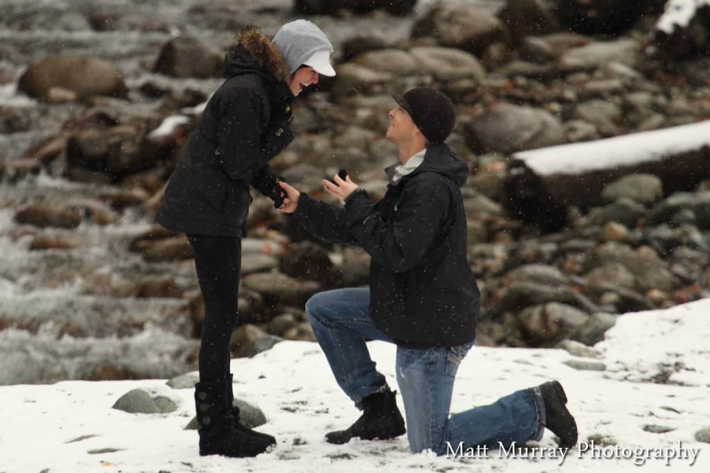 Candid Engagement Proposal Photography
