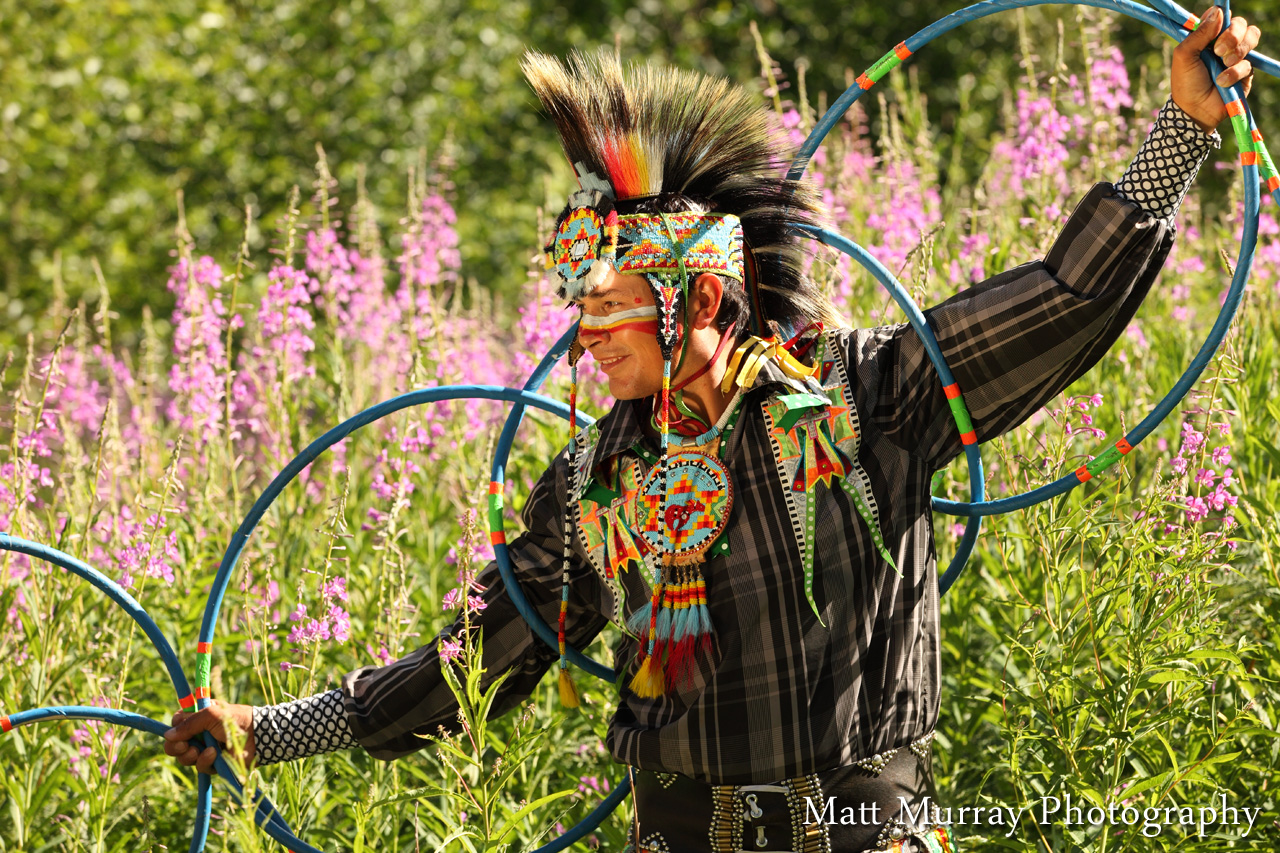 Native Hoop Dancer Portrait