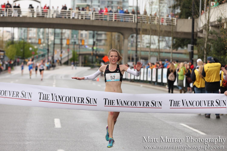 2014 Vancouver Sun Run - Rachel Cliff