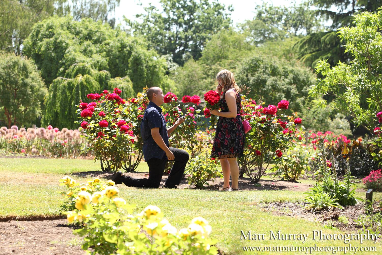 Vancouver Queen Elizabeth Park Candid Engagement Proposal